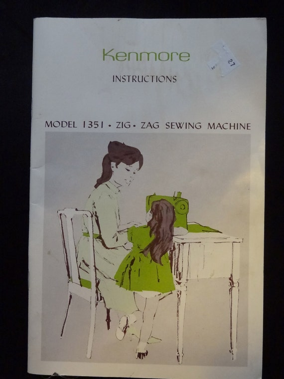 Vintage Kenmore Model 1351 Zig Zag Sewing by sewmanypatternz