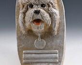 Bichon Frise  dog leash holder