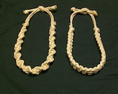 The Phatty Thick Hemp Necklace, Flat or Spiral Weave