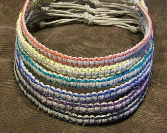 Hemp Necklace with 6 Color Choices