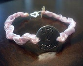 Maternity Ribbon Bracelet with Heart Clasp - Fantastic Baby or Shower Gift