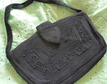 Vintage 40s cord   bag