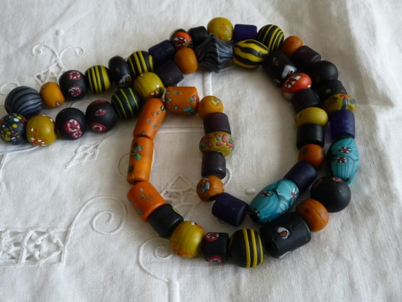 Vintage Necklace african trade beads