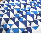 Buster in Royal- Original Geometric Vintage Inspired  Home Decor Fabric 1 Yard