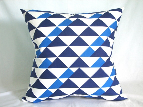 "RESERVED Buster Mod Throw Pillow 22"" x 22"" in Royal"