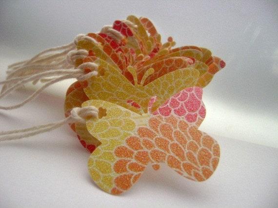 Butterfly Mango Lemon Gift Tags