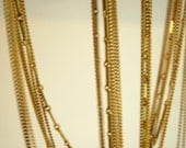 vintage chain necklace, 15 strands, made in japan