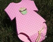 Baby Onesie Shower Invitation- Cupcake