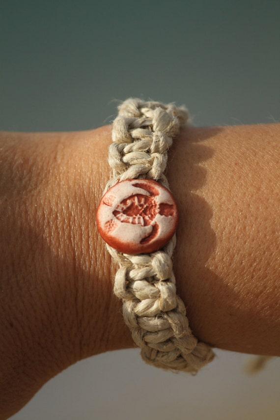 Sea Turtle Bracelet Macrame 50% Off SALE