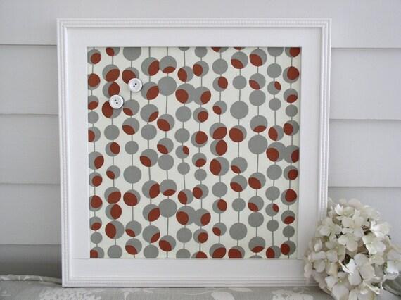 Items similar to modern magnet board framed magnetic for Modern cork board