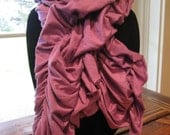 Orchid Colored Ruffle Scarf