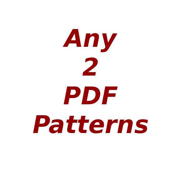 Any 2 PDF Patterns in Crochet Or Knit Pattern Bundle