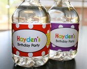 Large Polka Dot- Water Bottle Wrappers- print your own