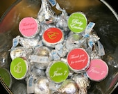 Baby Shower Chocolate kiss labels- pink and green for candy buffet or favors- print your own