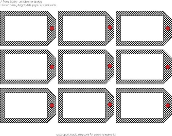 Blank Printable Tags: Items Similar To Race Car Or Monster Truck- Blank Hang