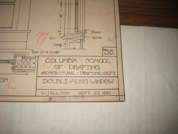 Architectural Drawing - Columbia School of Drafting -1921