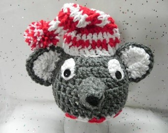 Sleepytime Newborn  Mouse Hat INVENTORY REDUCTION SALE Ready to Ship Only One Available