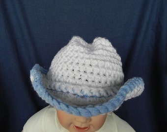 Cowboy Hat 6 to 12 month size INVENTORY REDUCTION SALE Ready to Ship!