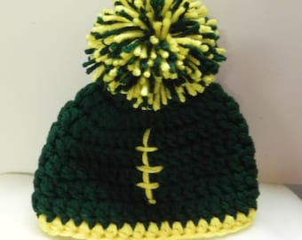 CUSTOMIZE Football Fan Hat  Preemie  to 12 months Size CHOOSE Colors