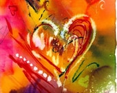 Love Equals Heart   Fine Art Print