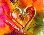 For Heather Love equals Heart 16x20 on Canvas and Gallery Wrapped
