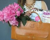 Original Tan Spring Finn & Co. Leather Bag