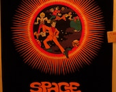 "SALE Rare  Blacklight ""Space Truckin'"" Flocked Original Vintage Poster"