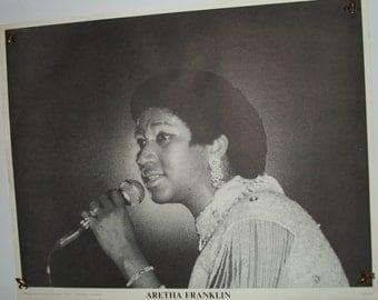 """SALE Original Vintage """"Aretha Franklin"""" Poster"""