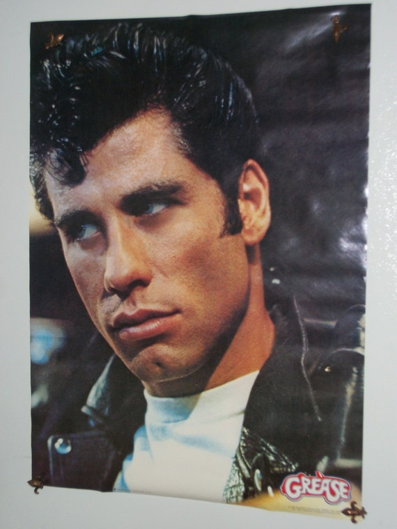 """1978 Movie Poster from """"Grease"""" Featuring John Travolta"""