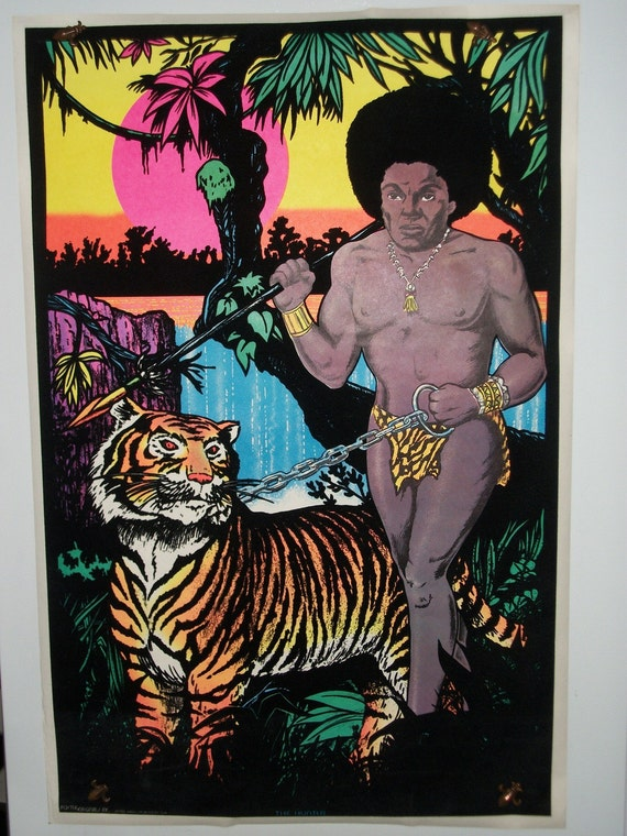 "Blacklight ""The Hunter"" 1976  FREE SHIPPING Original Vintage Poster"