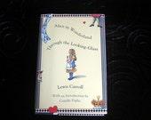 Hard cover for Kindle, Nook, E-reader. Lined hardback book Alice in Wonderland