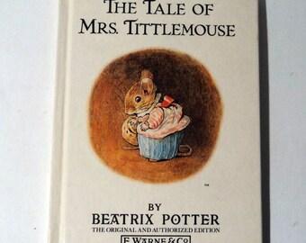 Beatrix Potter Childrens Book Vintage Book The Tale of Mrs. Tittlemouse