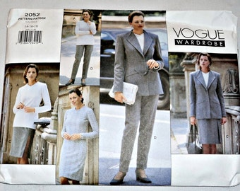 SALE - Vogue Patterns Vintage Vogue Pattern Easy Women's Dress Jacket Pants Skirt Top Pattern Size 14 16 18  Uncut 2052