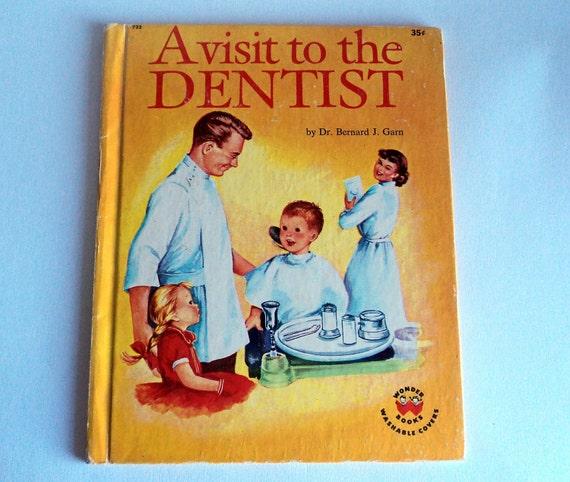 Childrens Book Vintage A Visit to the Dentist Wonder Book 1959