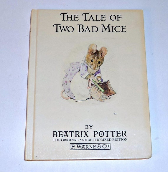 Beatrix Potter Childrens Book Vintage Book The Tale of Two Bad Mice