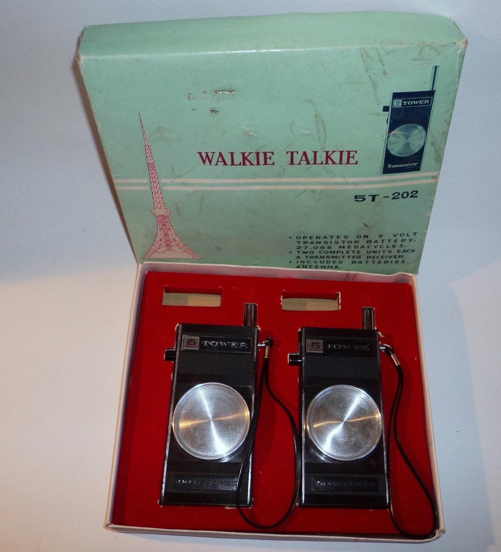 2 Vintage Walkie Talkies