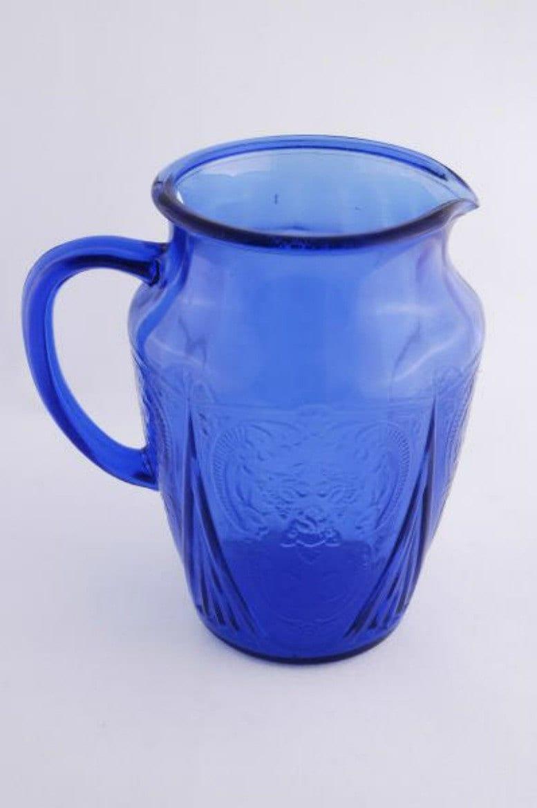 Depression Glass Royal Lace Blue Pitcher Depression Glass