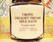 Coconut Milk Vanilla & Nutmeg Moisturizing Milk Bath - Soothing Oatmeal, Tropical Aroma with Organic Essential Oils for your Home Spa, 9 oz.