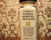 Bath Soak - One Bath: Vanilla Bourbon Wildcrafted Essential Oil & Oatmeal Milk Bath Softens, Moisturizes, Calms Skin Irritation, 4 oz.