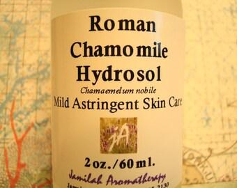 Organic Roman Chamomile Hydrosol - All Purpose Antiseptic, Skin Toner, Children's Skin, Makeup Removal, Dark Circles, Itchy Scalp, Pet Care