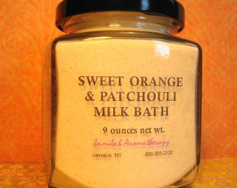 Sumptuously Sweet Orange & Patchouli Milk Bath - Sweet, Relaxing, Fragrant Skin Softening Treat, Bath Soak, Bath Milk, Orange, Patchouli