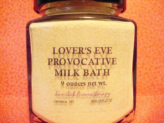 Lovers Eve Organic & Wildcrafted Essential Oil Moisturizing Bath Milk for A Relaxing, Sensual, Aromatic Bathing Experience
