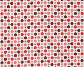 Flea Market Fancy Flower and Dot in Red 1 yard