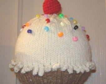 Knitted Baby Hat Pattern -   Cupcake Hat