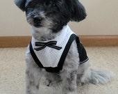 Tuxedo Sleeveless T-shirt for Dogs
