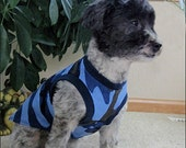 Blue Camouflage Sleeveless Dog T-Shirt - SMALL