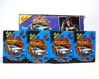 4 Back to the Future II Trading Card Packs Topps 1989