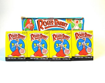 4 Who Framed Roger Rabbit Card & Sticker Packs Topps 1987