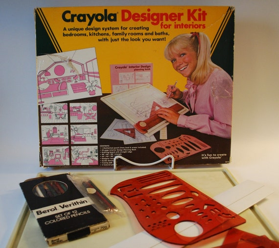 crayola designer kit for interiors 1983