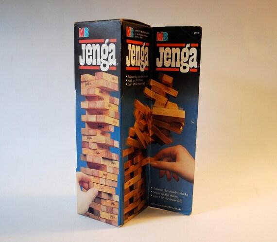 Jenga by Milton Bradley 1986